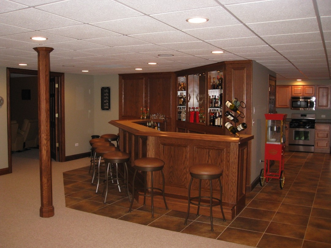 Pictures Of Finished Basements With Bars