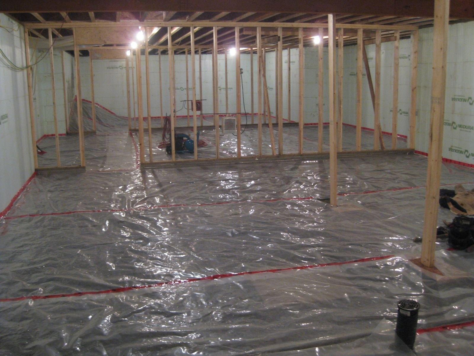 Plastic Vapor Barrier Basement Floor1600 X 1200