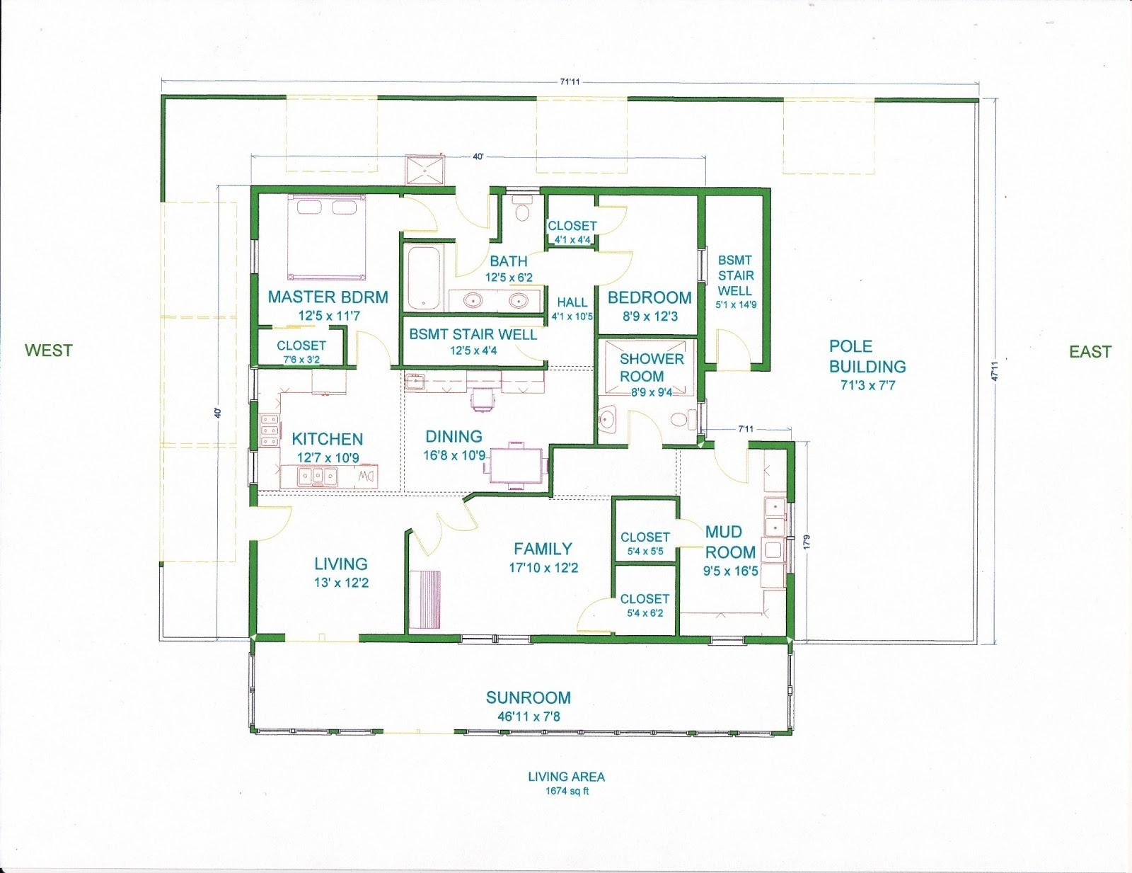 Pole Barn Home Floor Plans With Basement