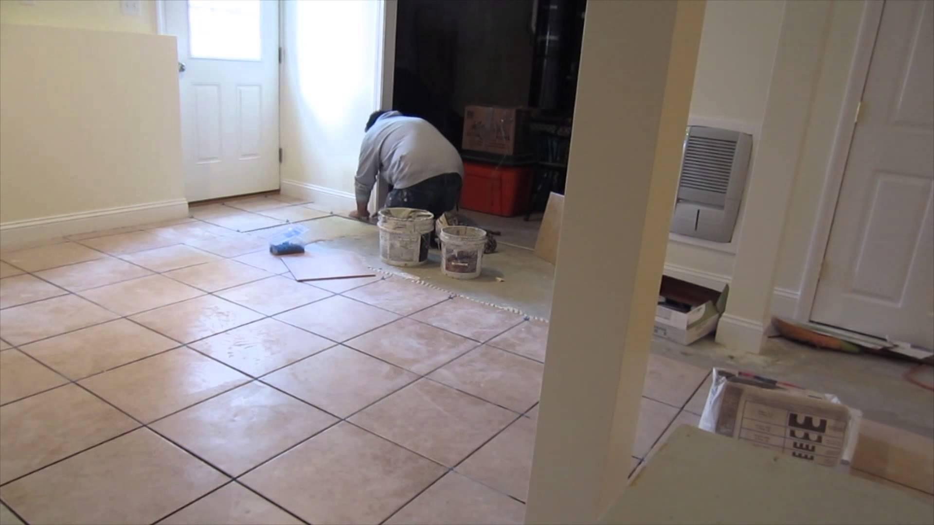 Porcelain Or Ceramic Tile For Basement Floor Porcelain Or Ceramic Tile For Basement Floor time lapse of a 16x16 ceramic tile installation on a basement 1920 X 1080
