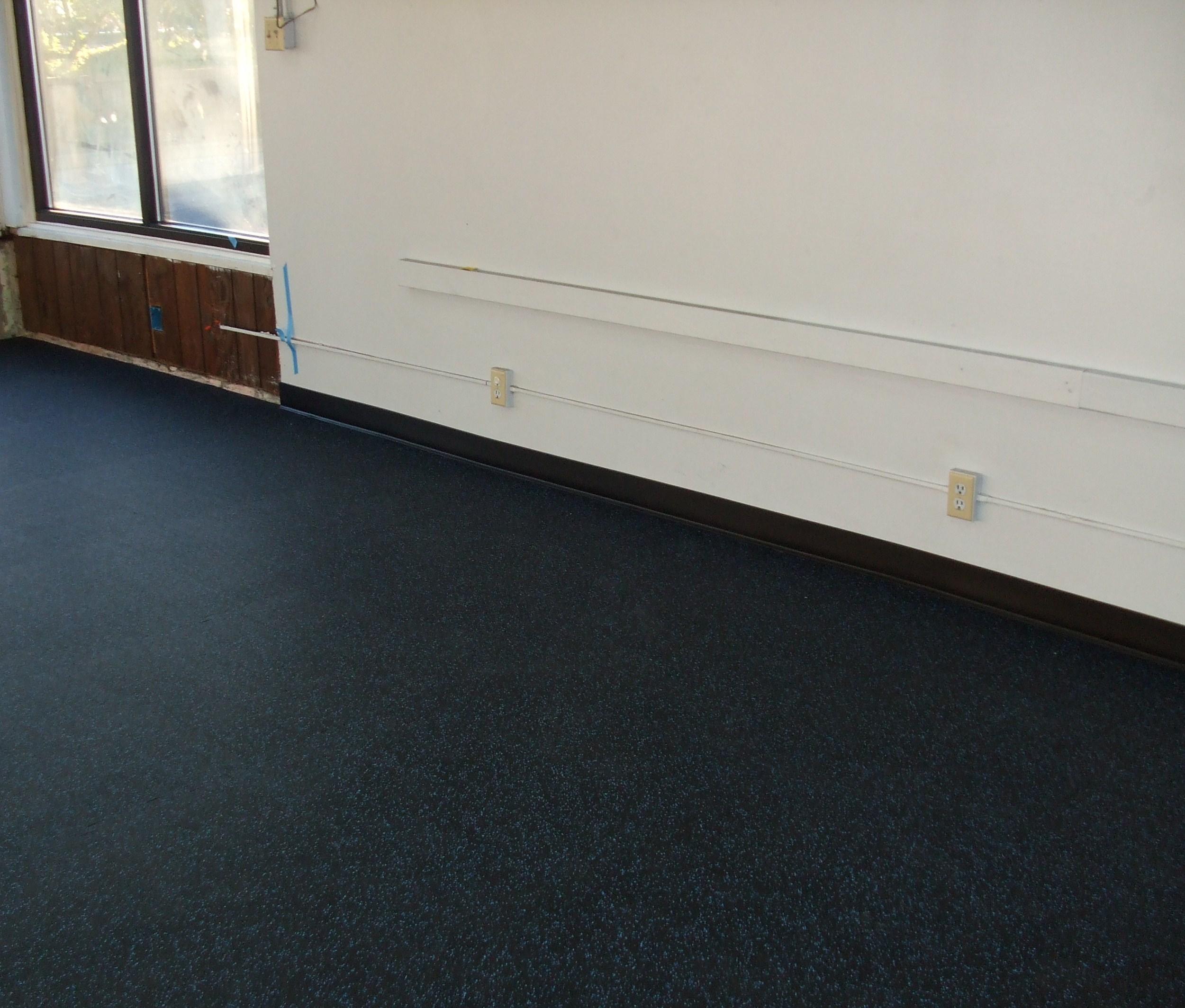 Poured Rubber Floor For Basement