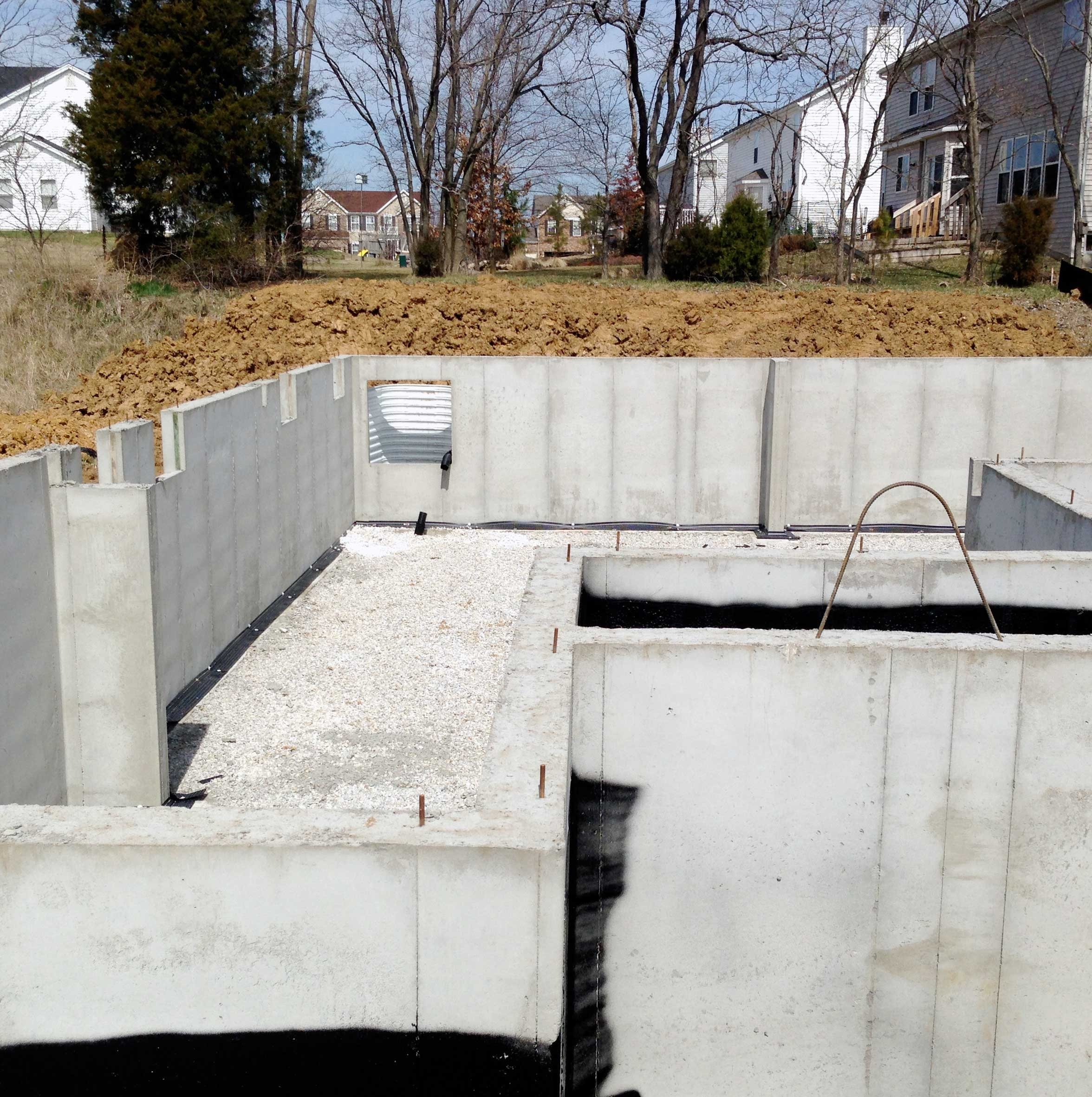 Pouring Basement Walls Foundation