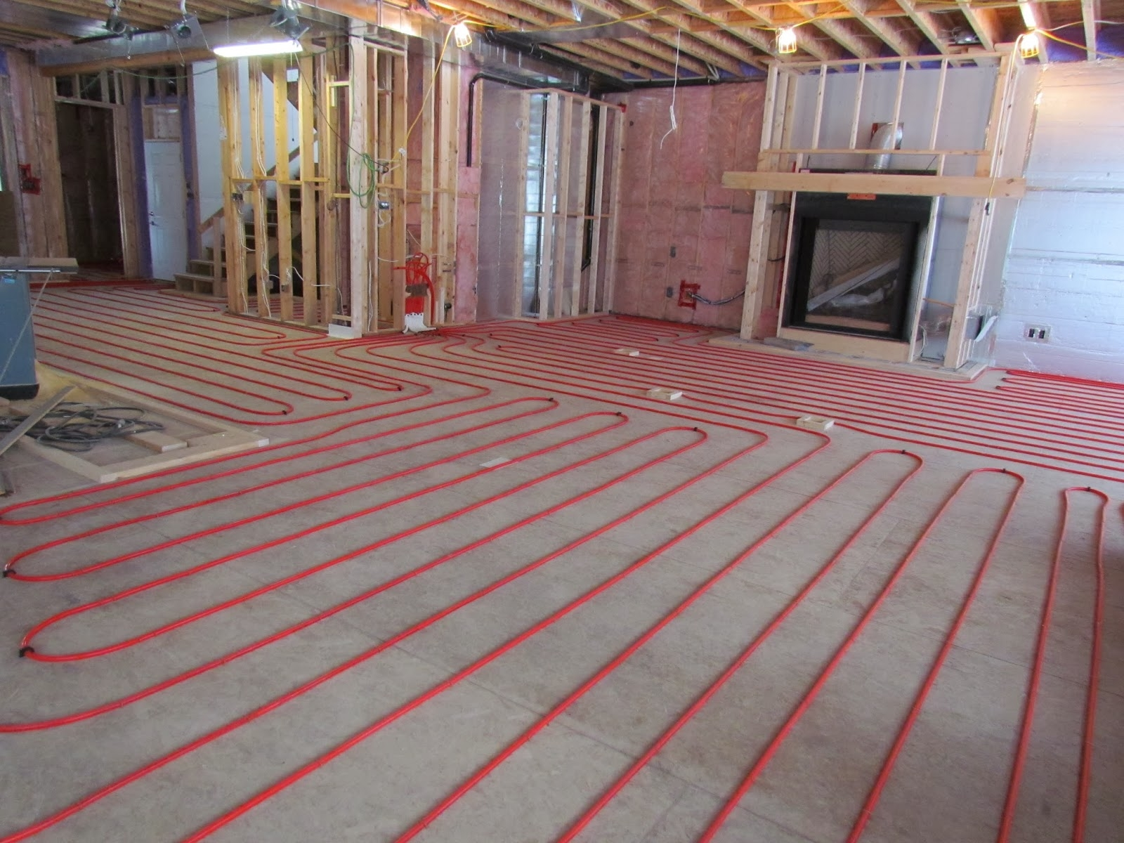 Radiant Floor Heating Finished Basement