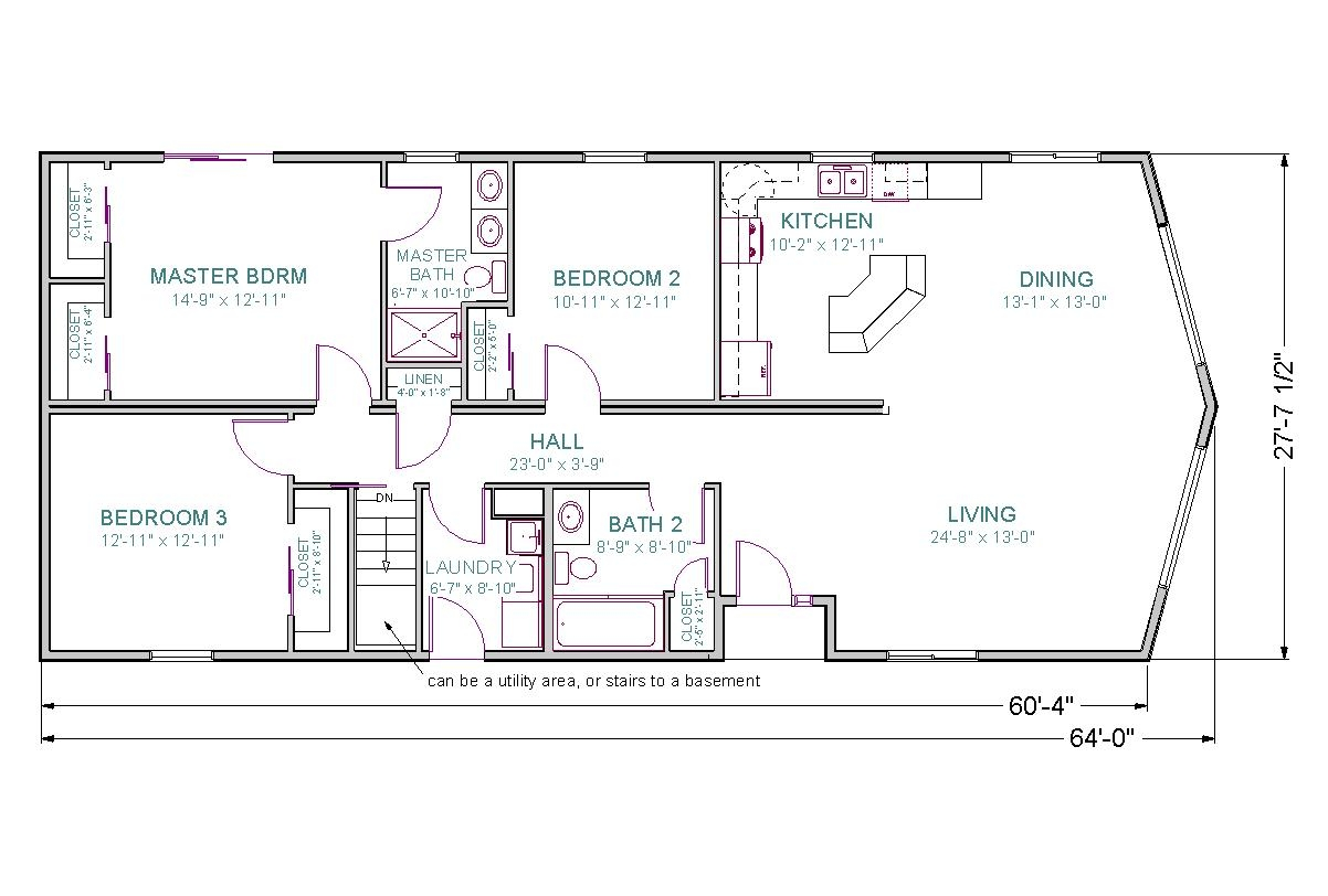Ranch Home Floor Plans With Walkout Basement