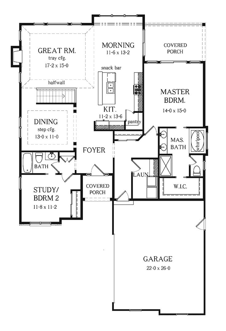 Ranch House Plans With Basement Bedrooms