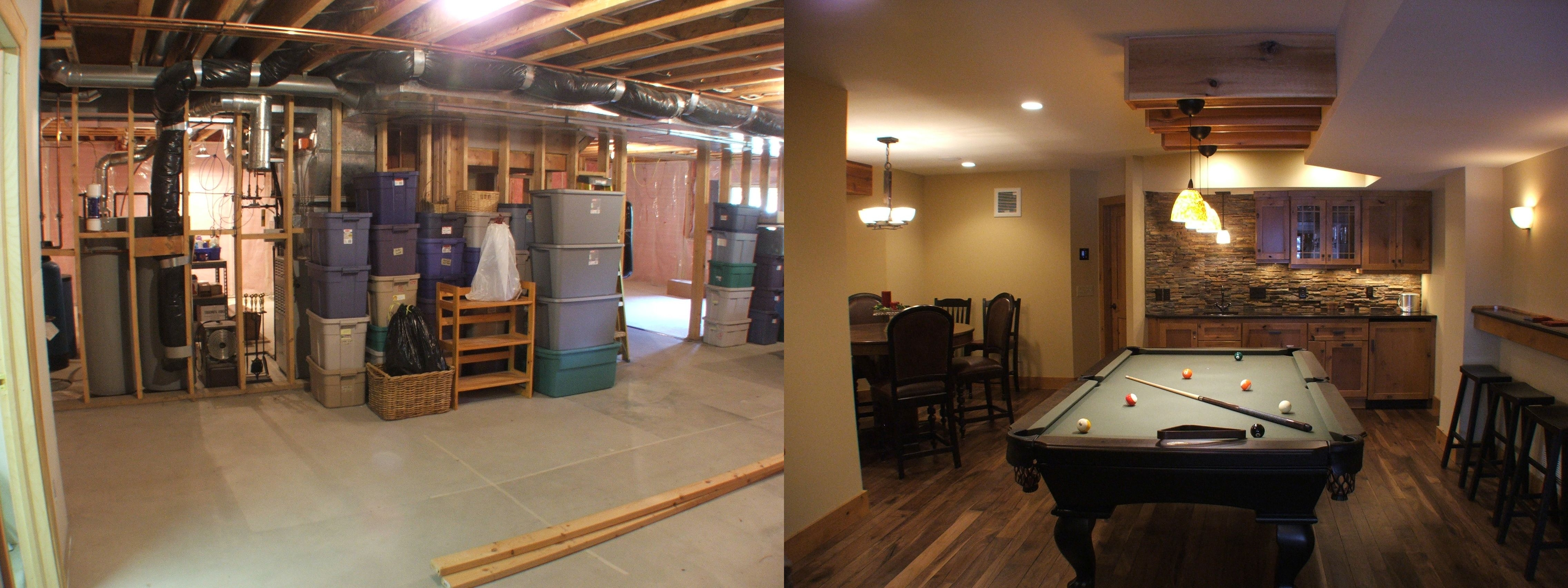 Remodeled Basement Pictures Before After