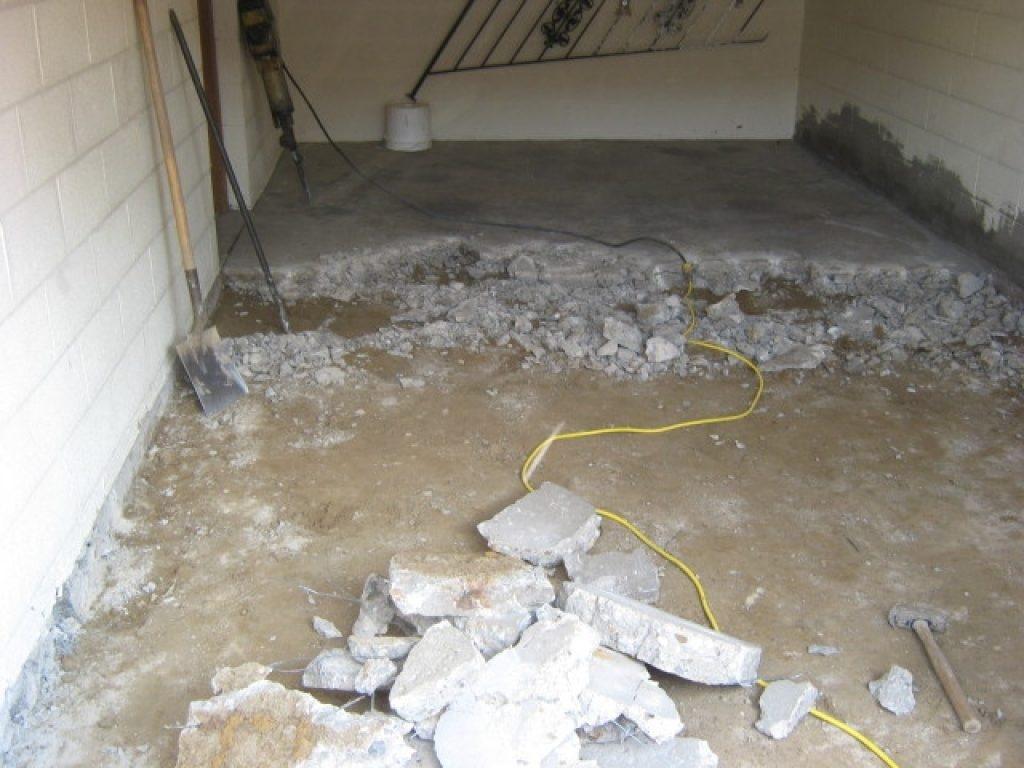 Repairing Heaved Basement Floor