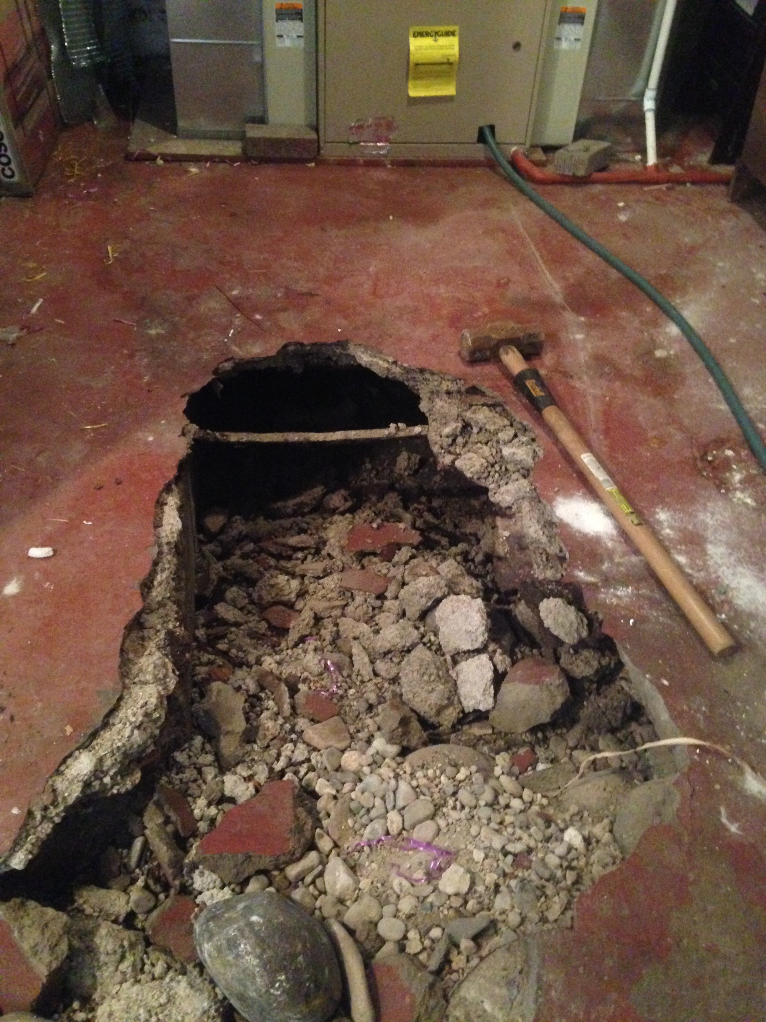 Repairing Old Basement Floor