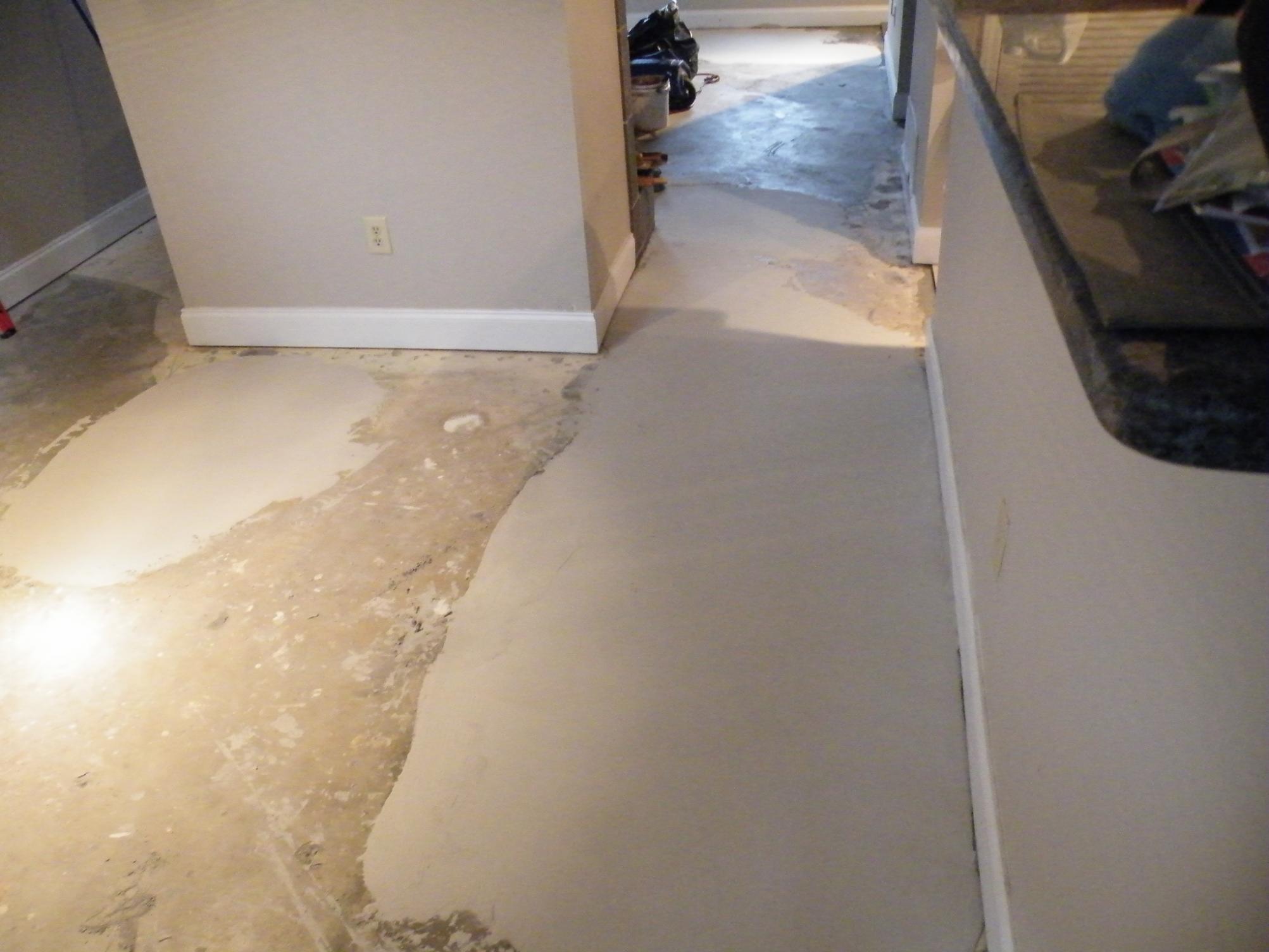 Repairing Uneven Basement Floor