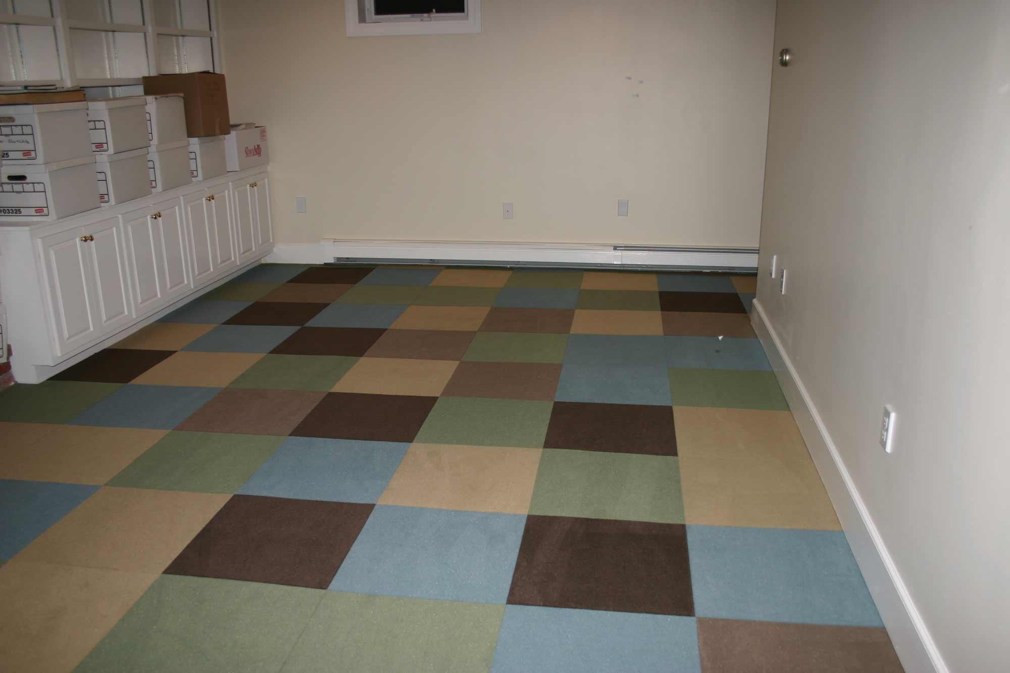 Rubber Basement Floor Tiles