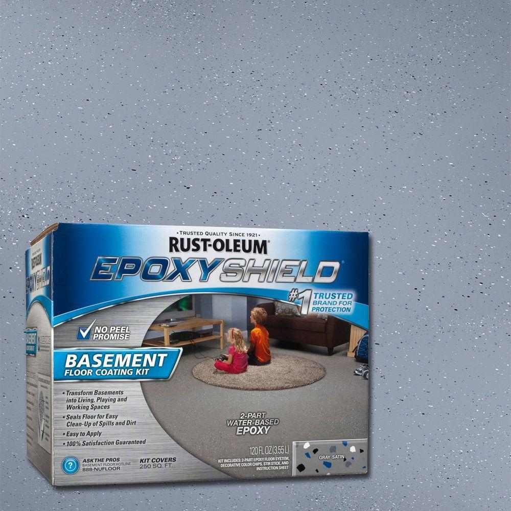 Rust Oleum Epoxyshield Basement Floor Kit