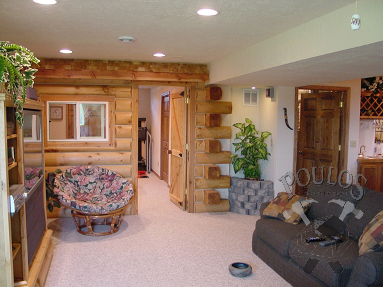 Rustic Finished Basement Photos