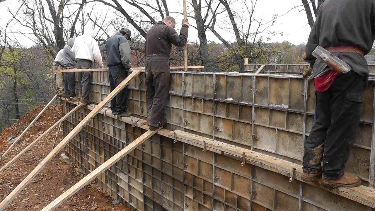 Setting Basement Wall Forms Setting Basement Wall Forms design build narrow lot vlog 7 pouring the concrete foundation 1280 X 720