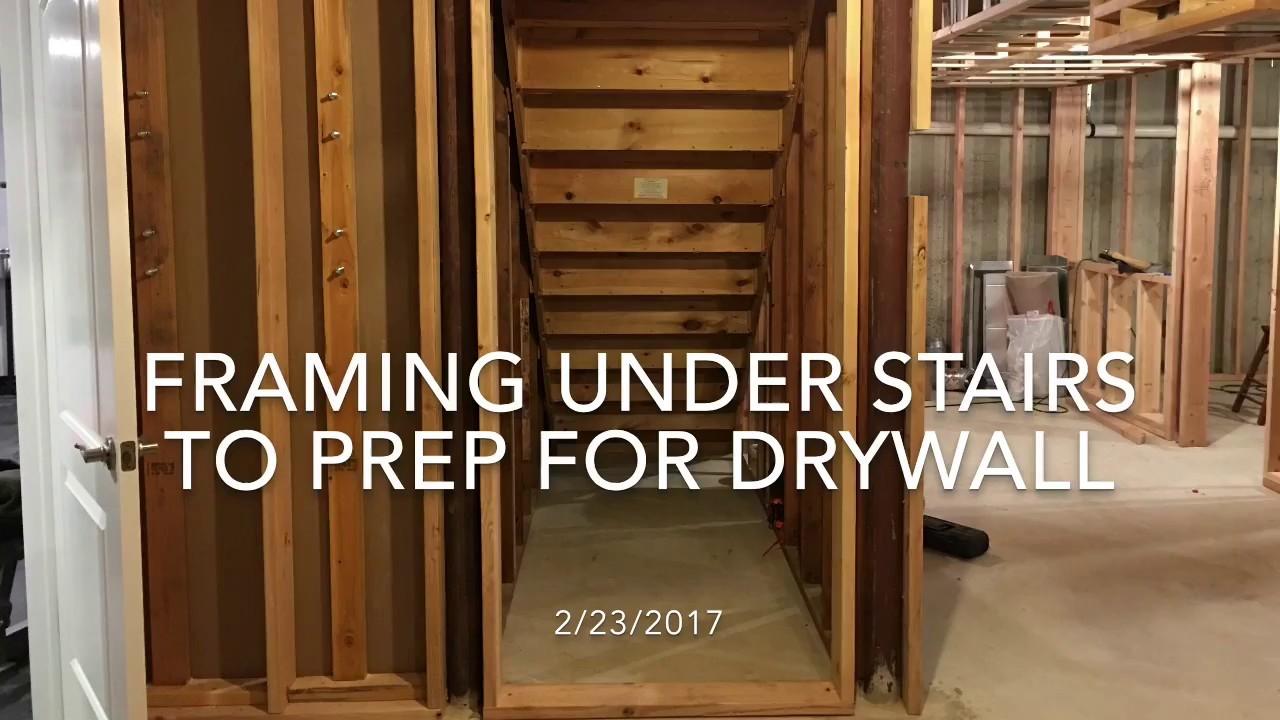 Sheetrock Basement Stairs