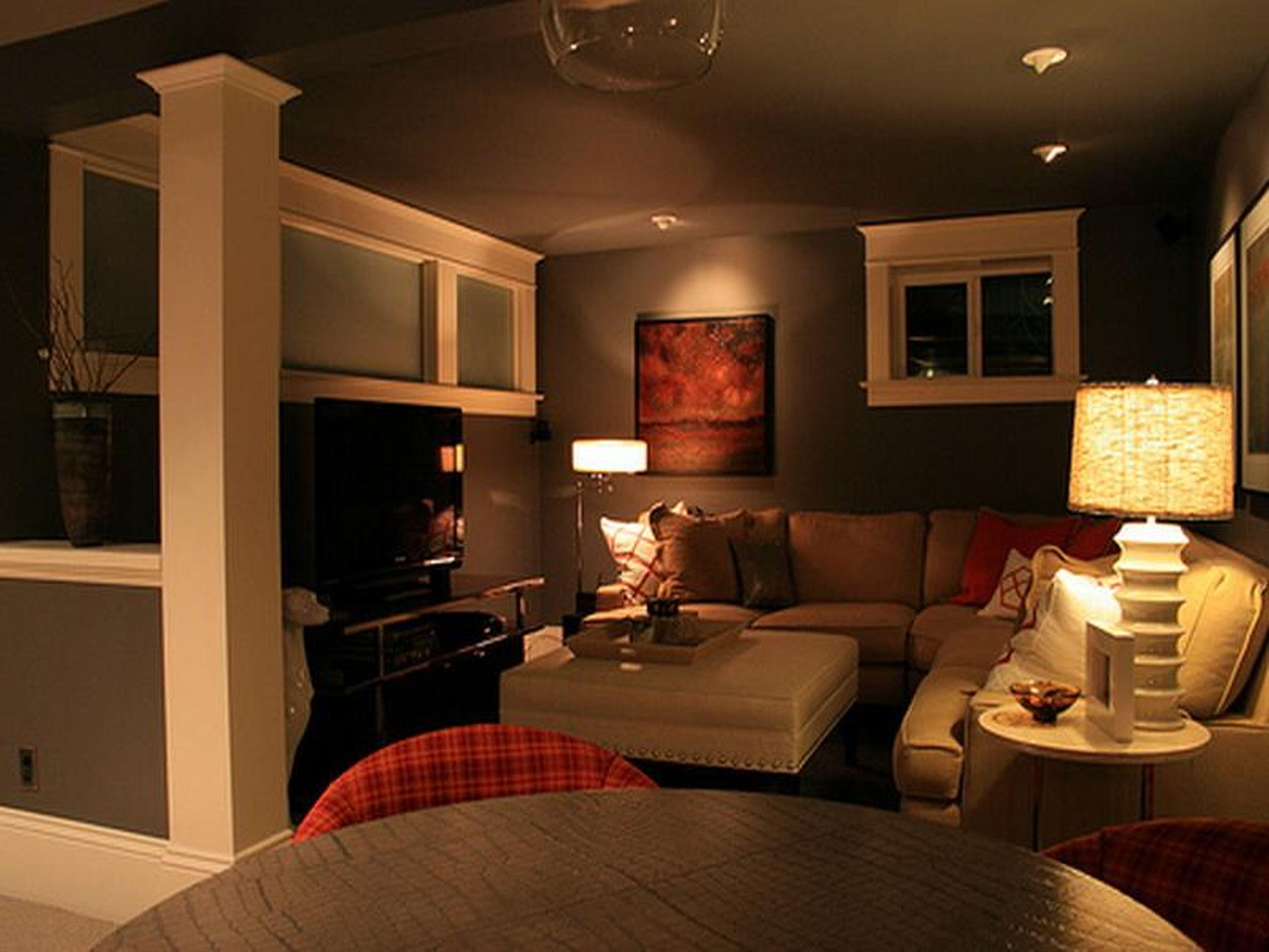 Small Basement Living Room Design