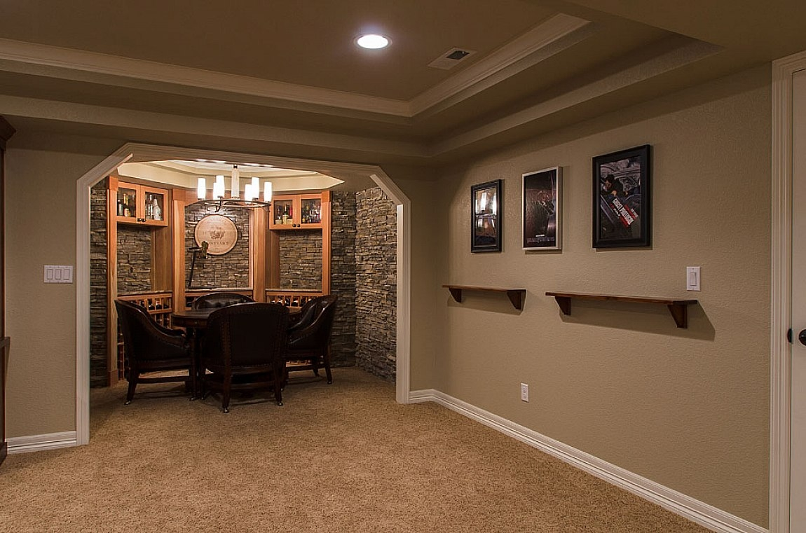 Small Finished Basement Designs