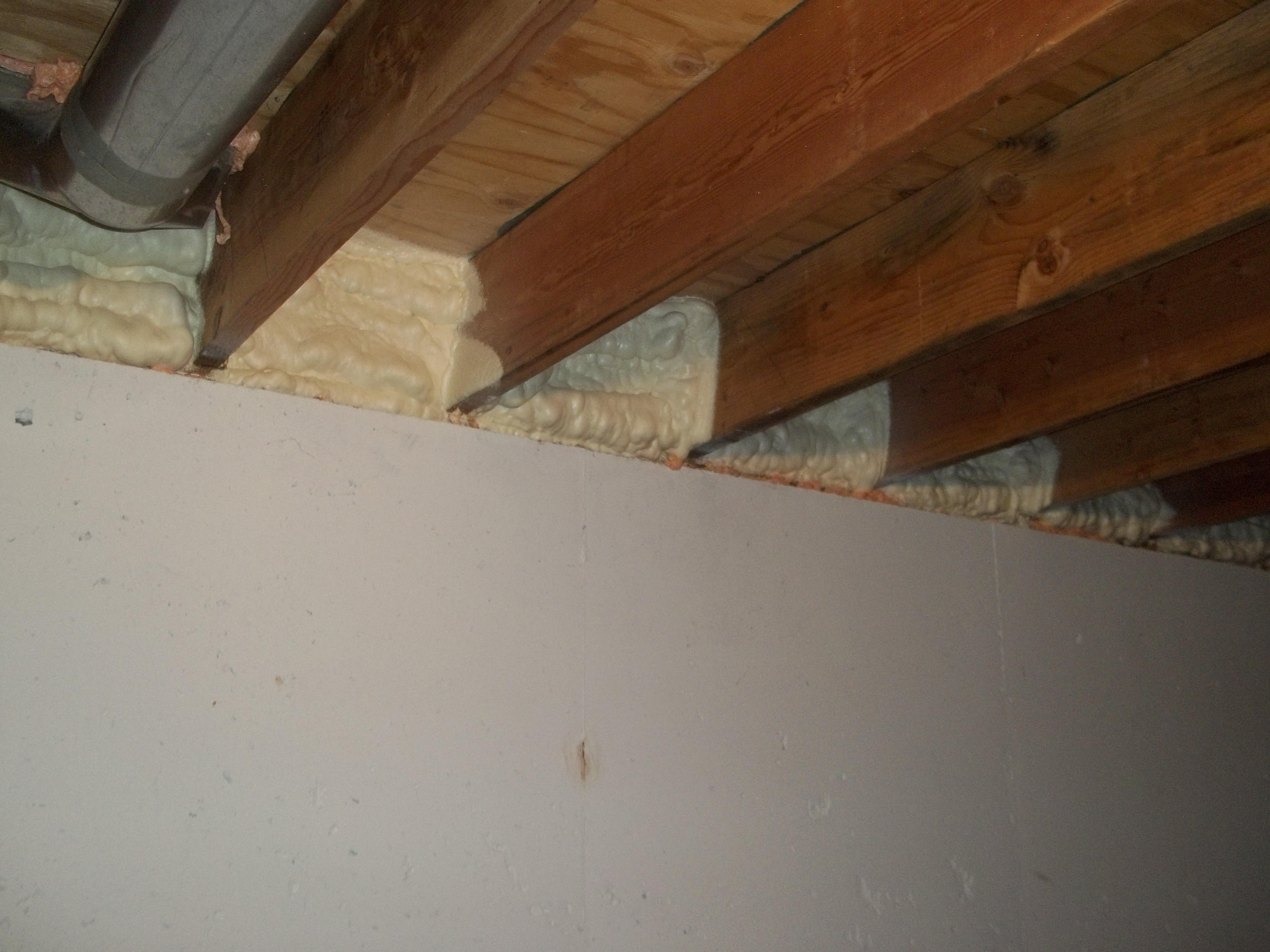 Spray Foam Insulation Basement Rim Joist