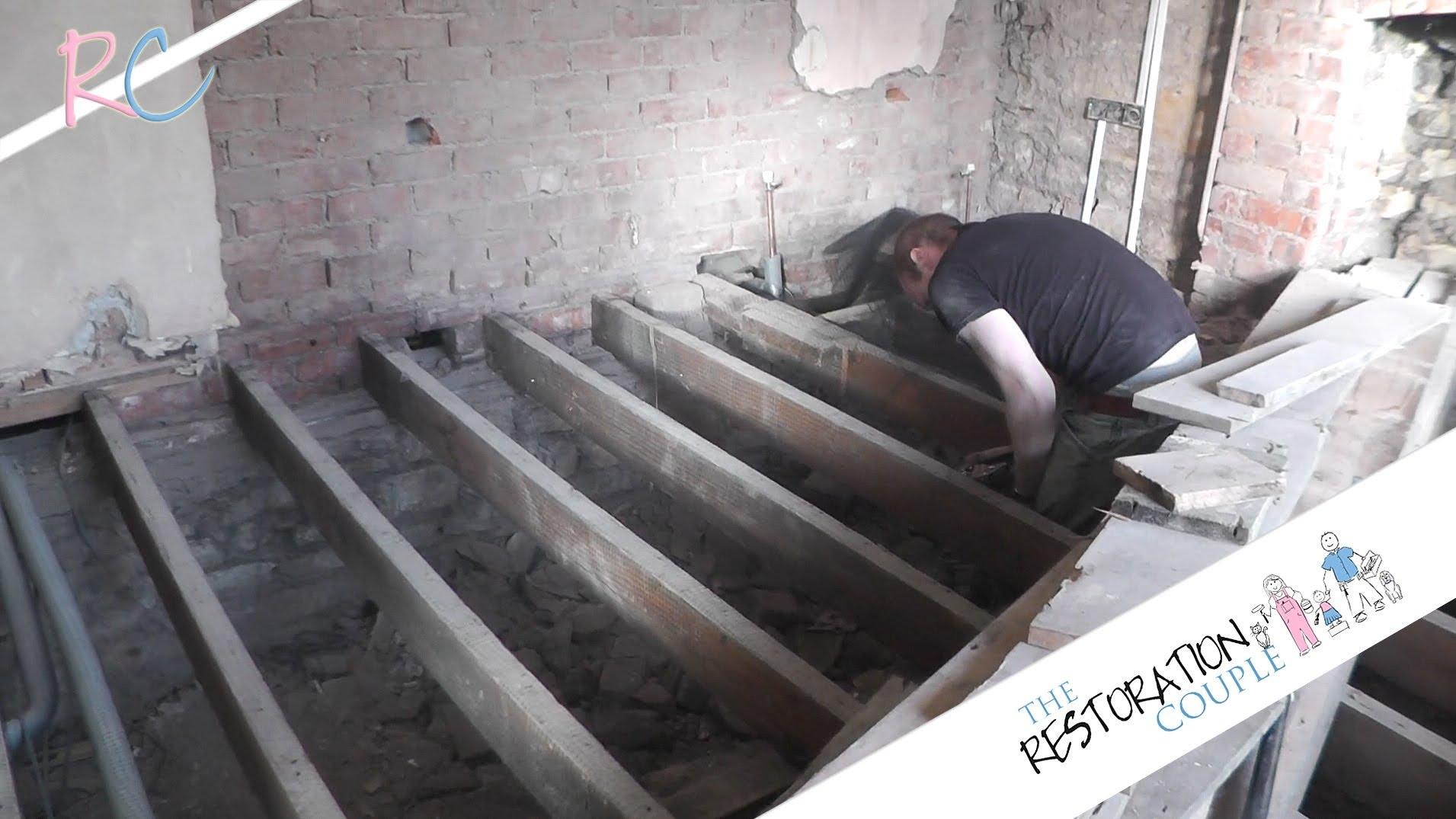 Suspended Basement Floor Construction