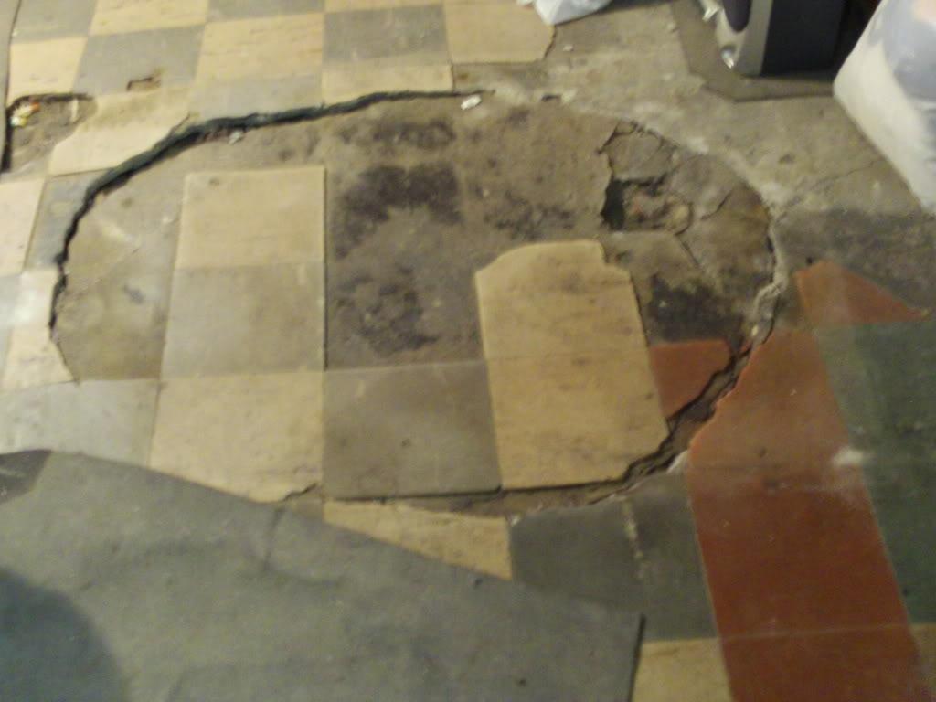 Tile Cracked Basement Floor
