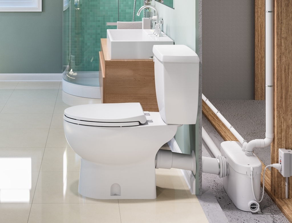 Toilet And Shower Pump For Basement