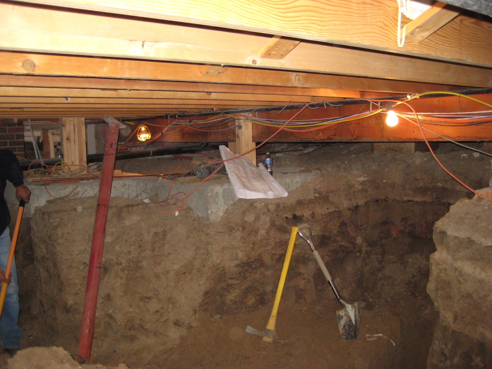 Turn Large Crawl Space Into Basement