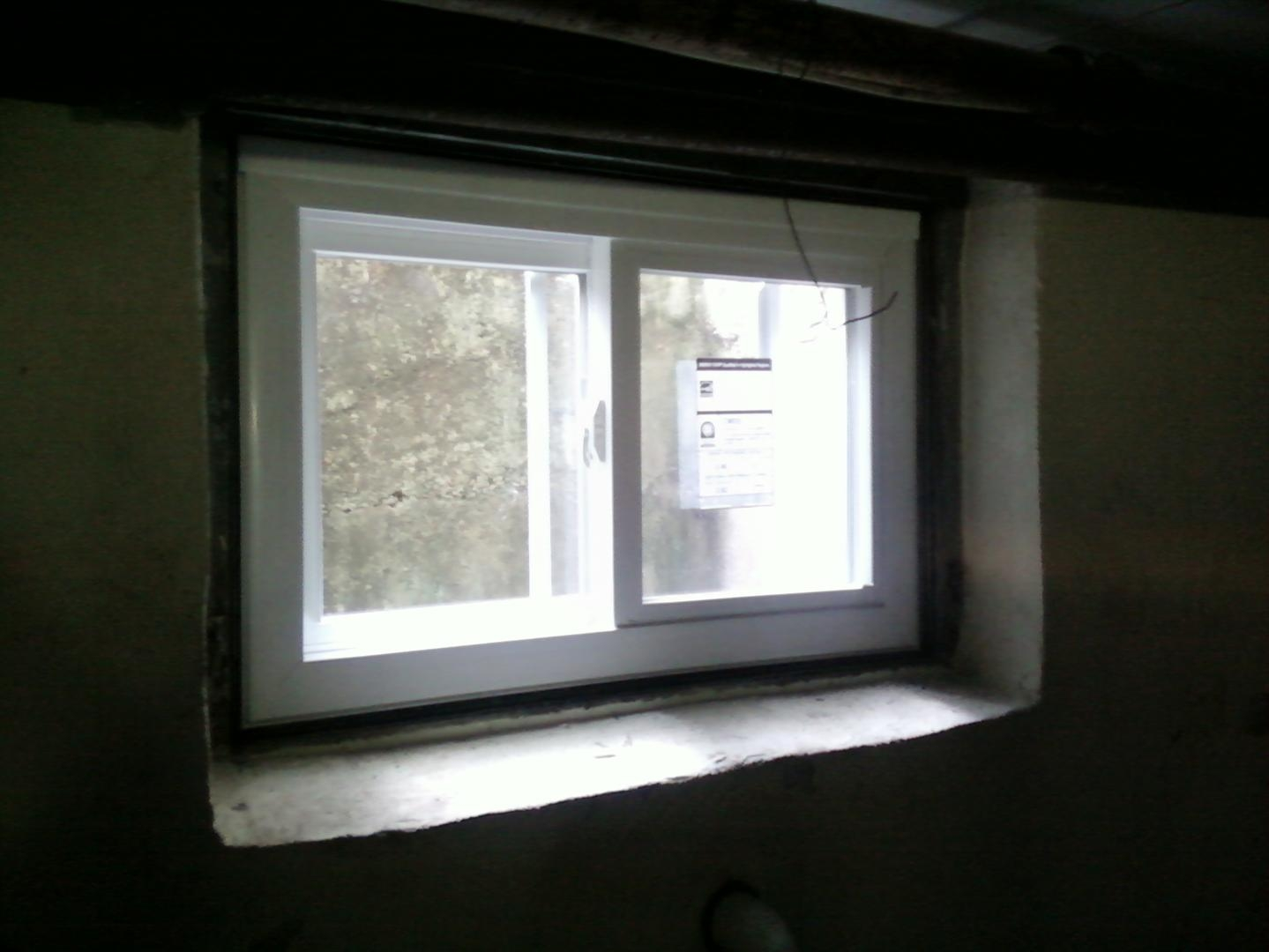 Vinyl Basement Sliding Windows