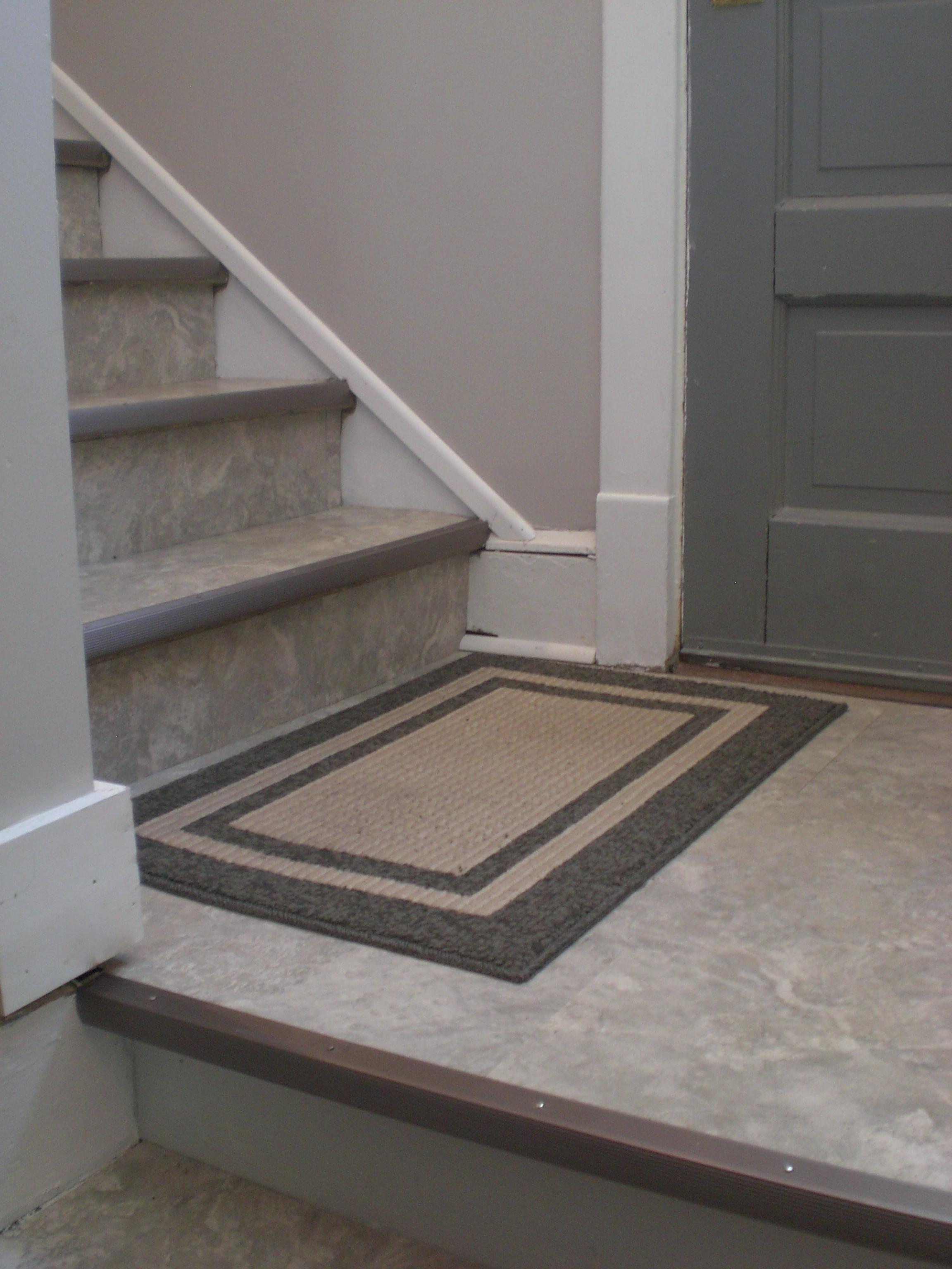 Vinyl Tile Basement Stairs