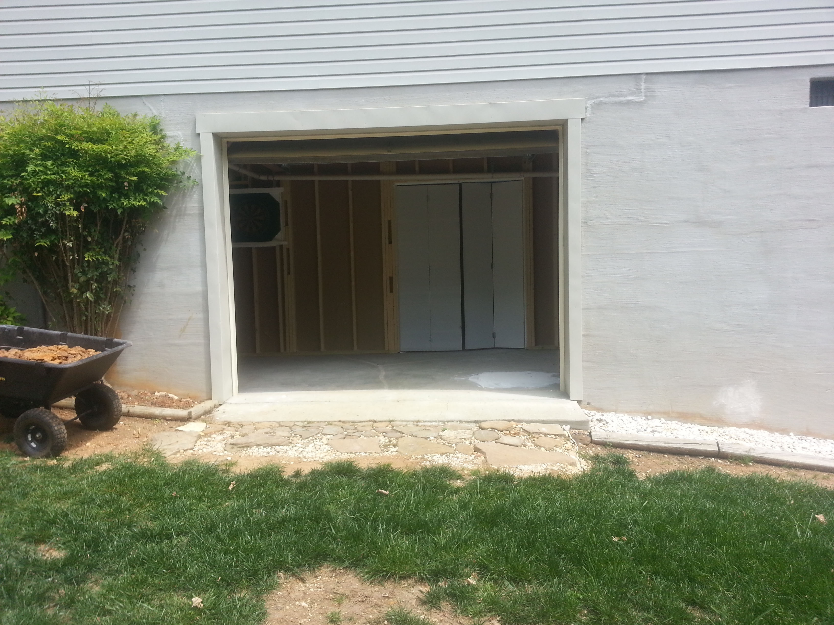 Walkout Basement Garage Door