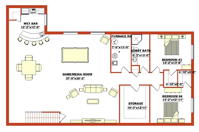 Walkout Finished Basement Floor Plans