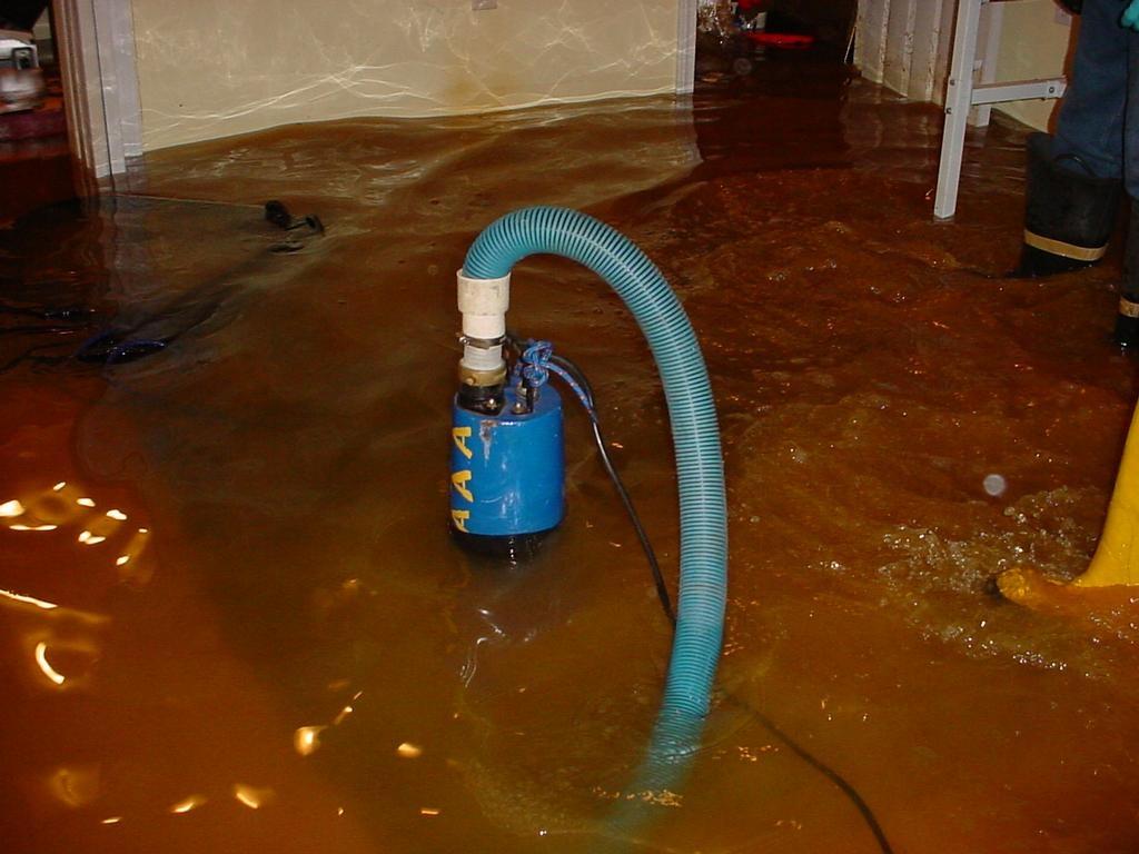 Water Pump Basement Flooding