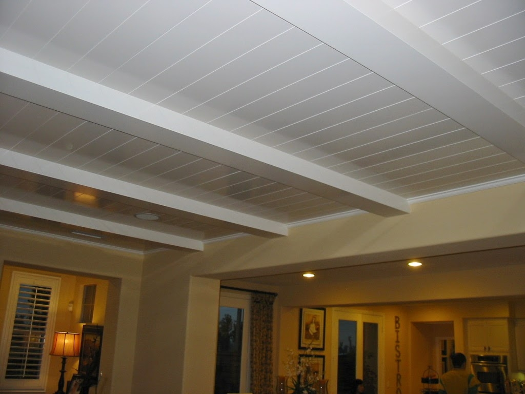 Wood Paneling Basement Ceiling