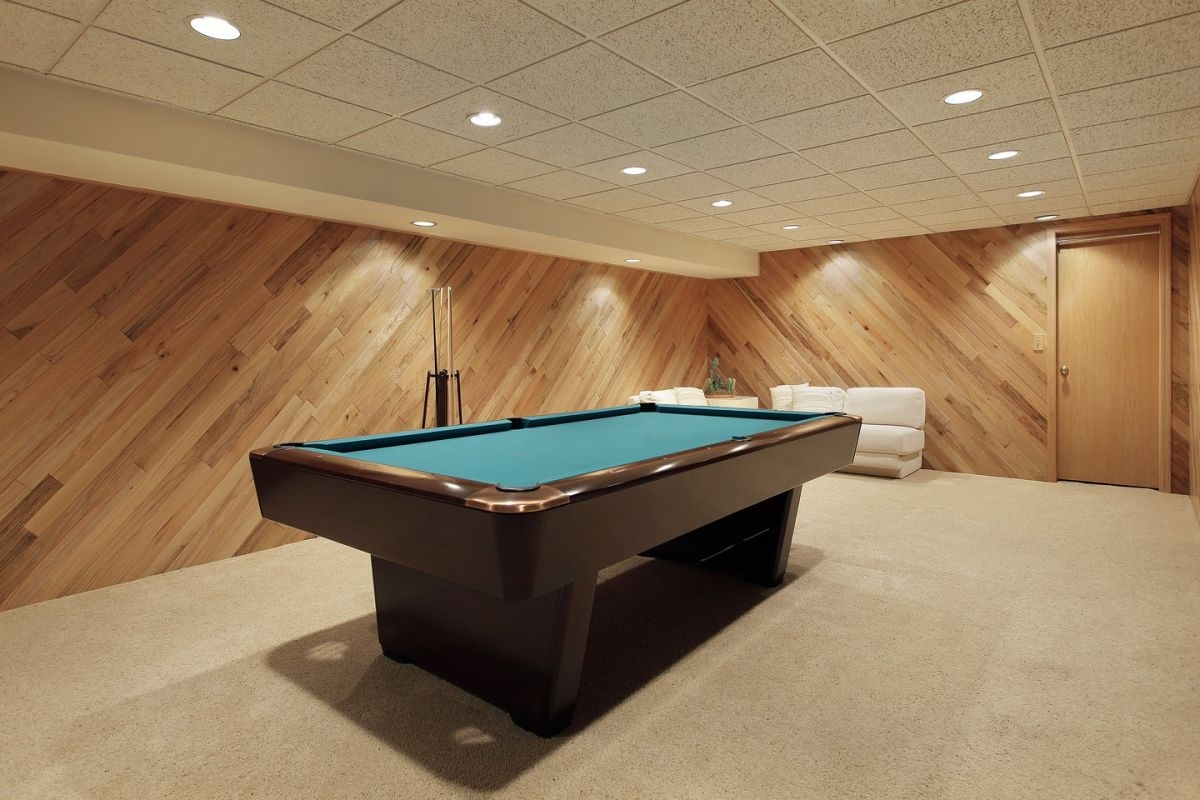 Wood Paneling Basement Remodel