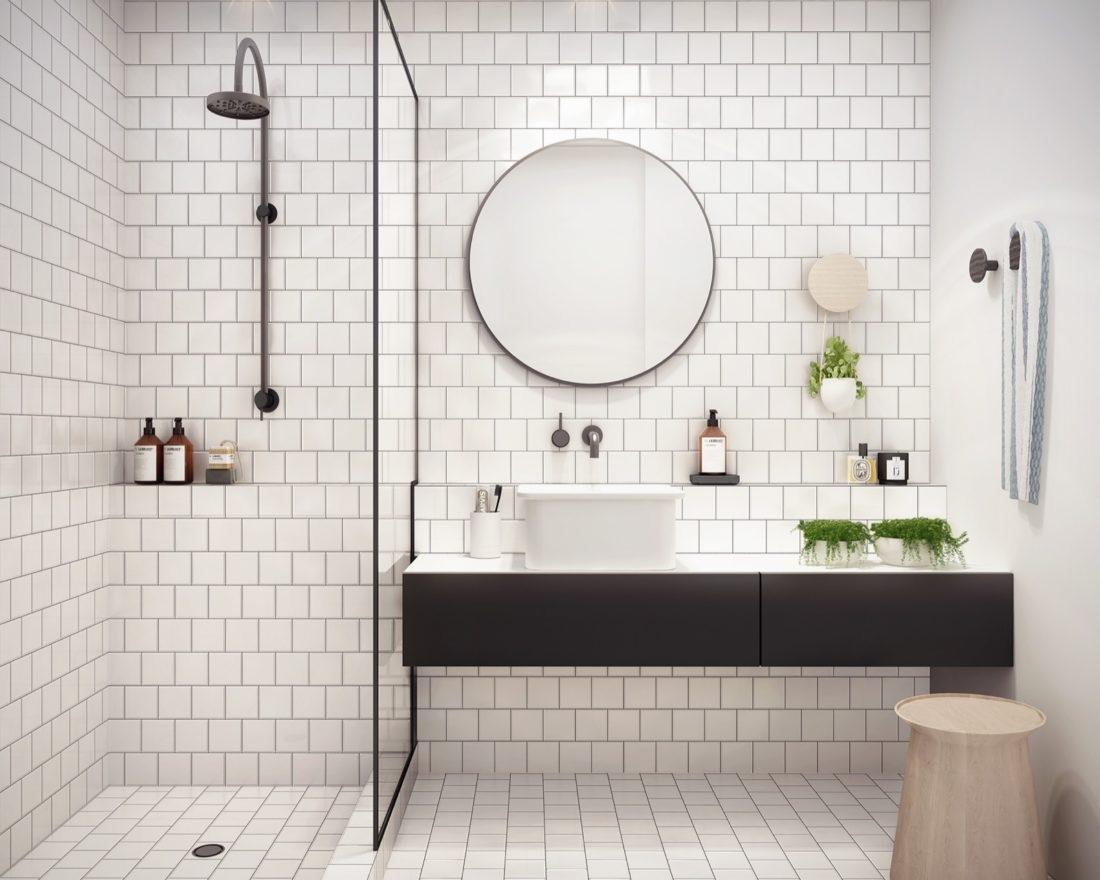 24 Round Bathroom Mirror