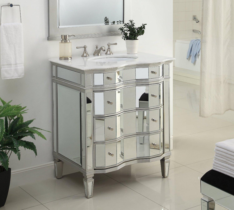30 Mirrored Bathroom Vanity