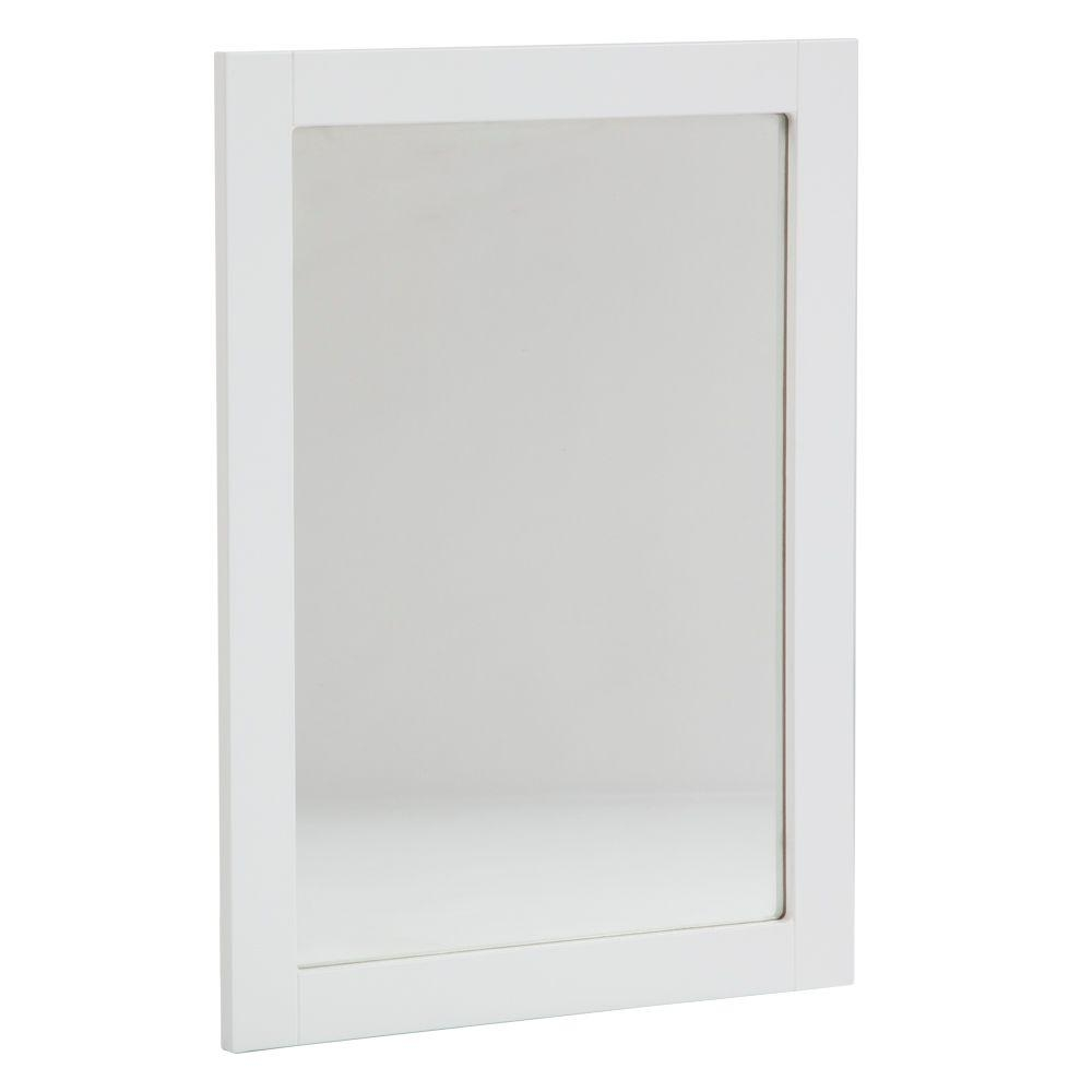 36 X 36 White Bathroom Mirror