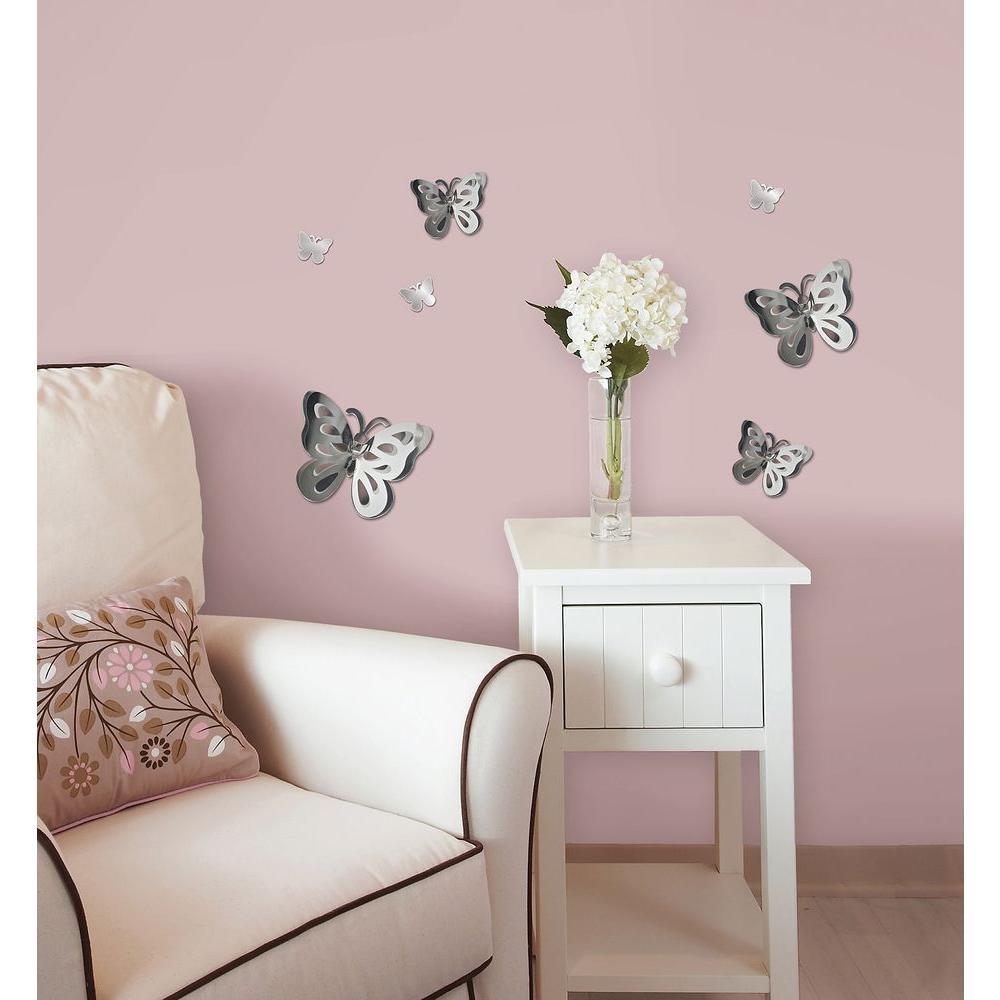 3d Butterfly Mirror Wall Decor