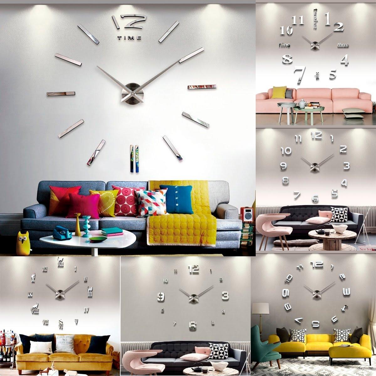 3d Wall Mirror Clock