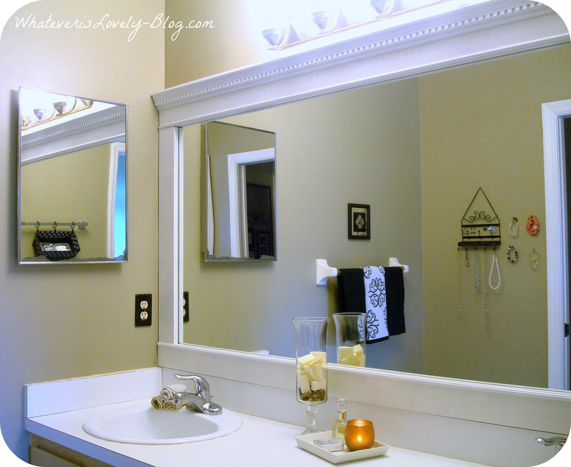 Add Frame Around Bathroom Mirror