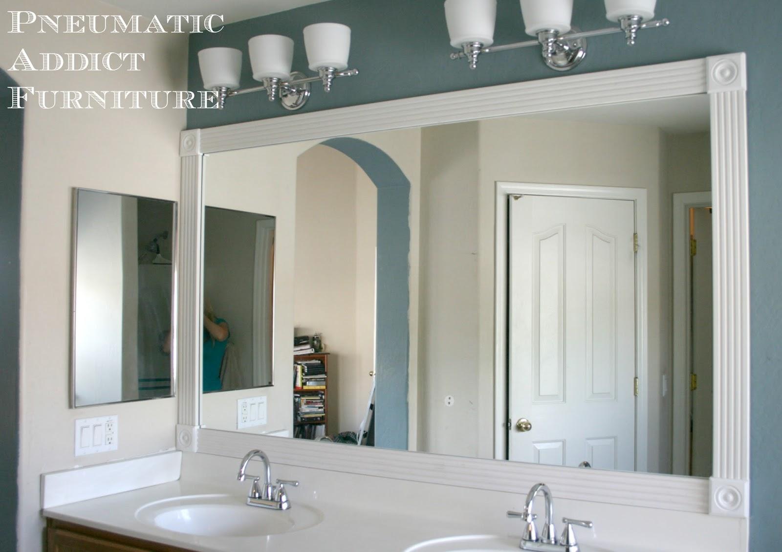 Add Molding Around Bathroom Mirror
