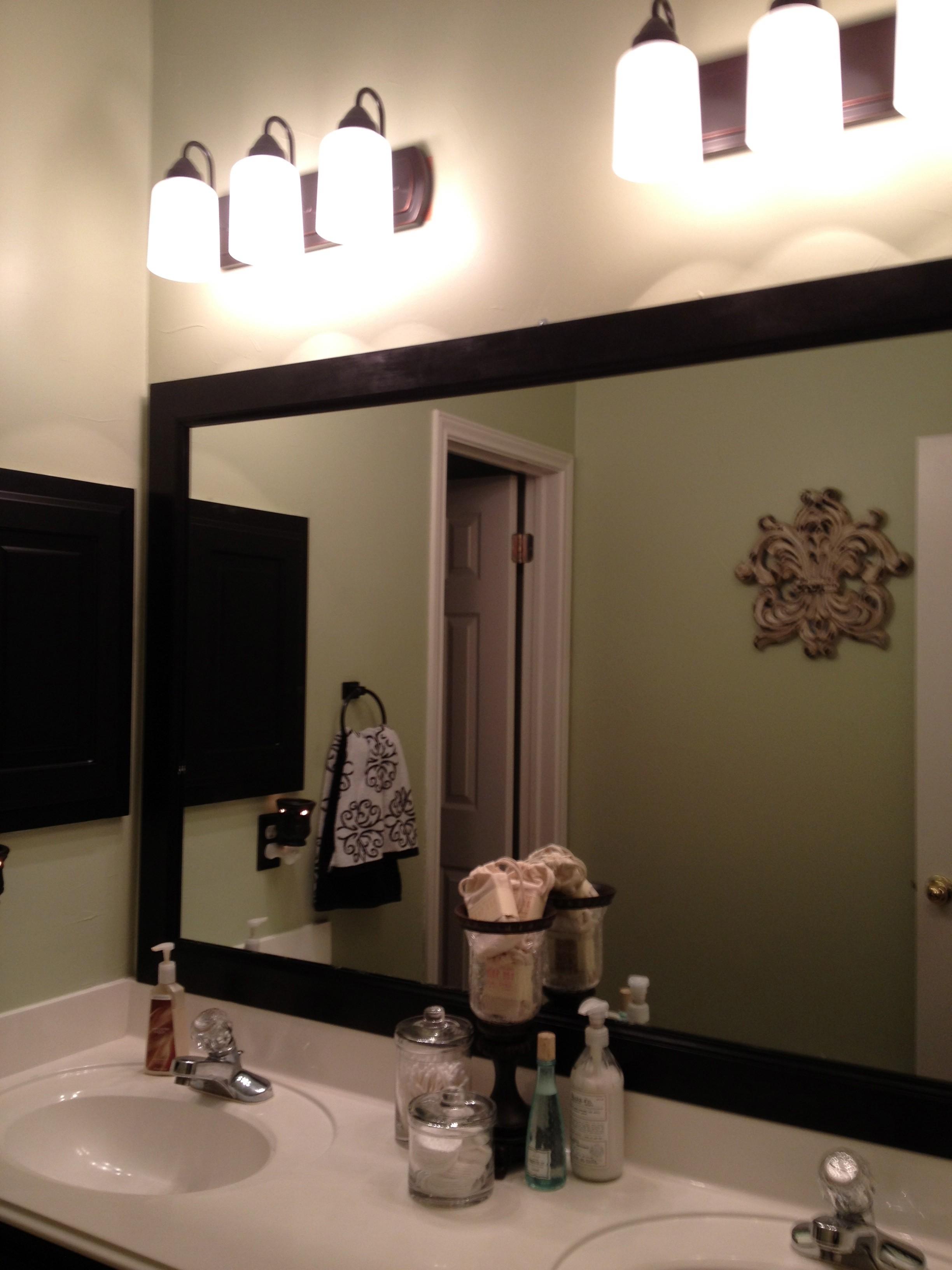 Add Wood Frame To Bathroom Mirror