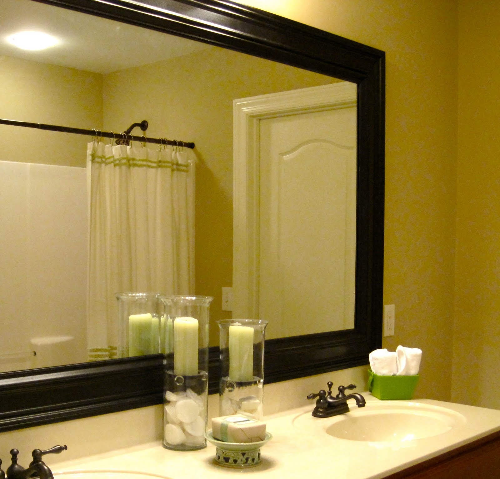 Adhesive Frames For Bathroom Mirrorsremodelaholic bathroom mirror frame tutorial