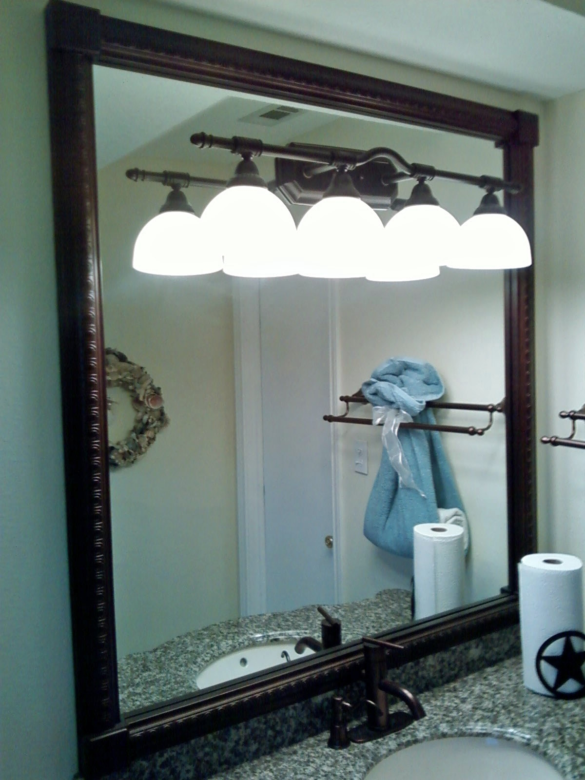 Aged Bronze Bathroom Mirror