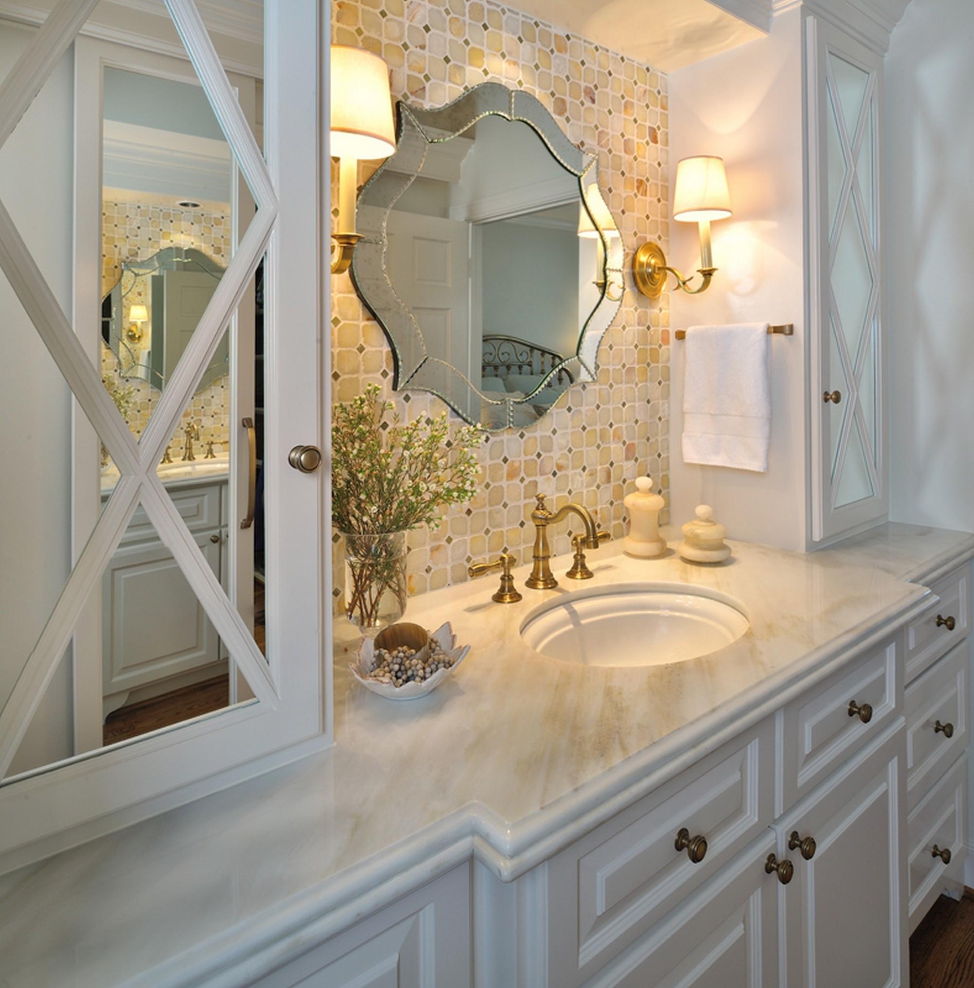 Antique Brass Bathroom Mirrors