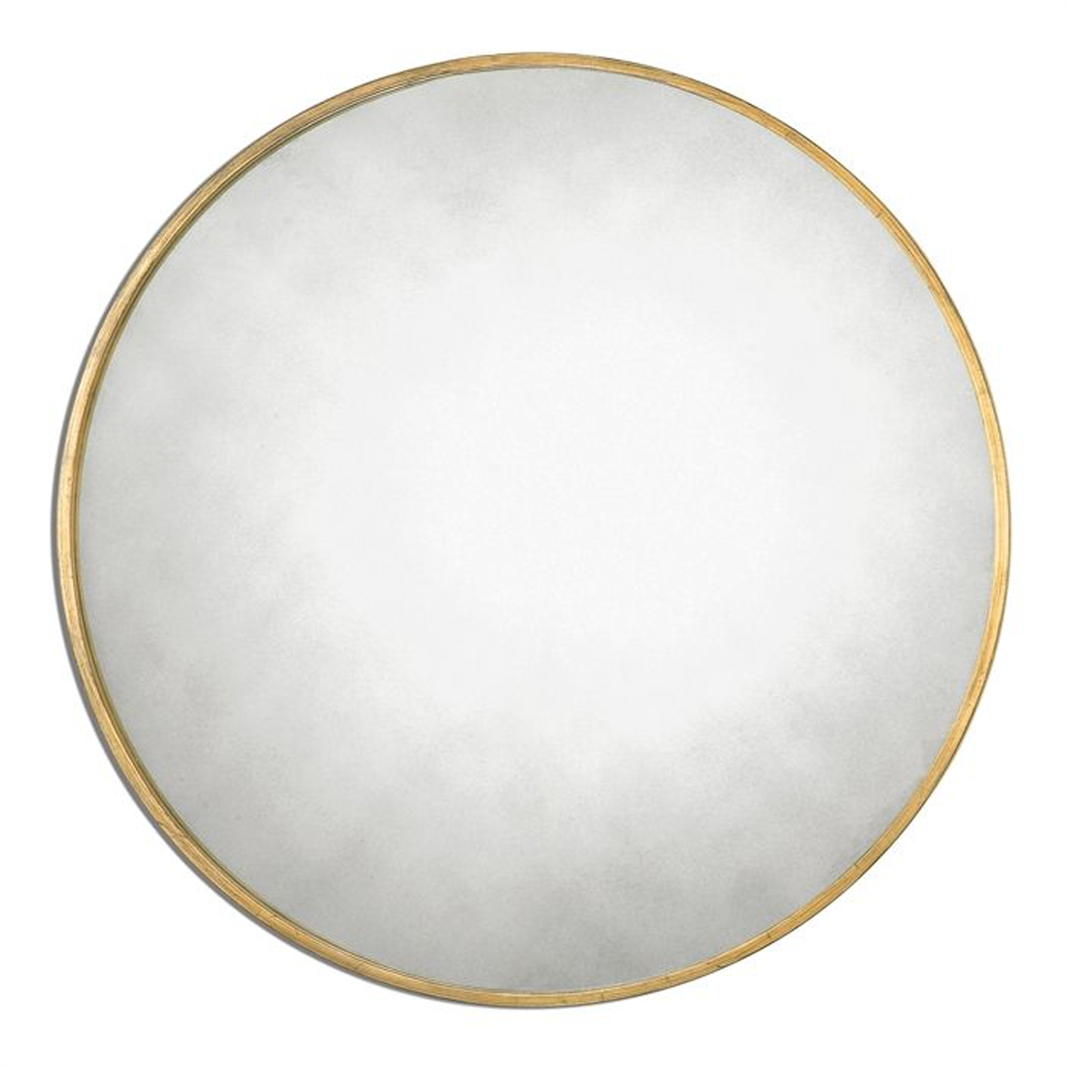 Permalink to Antique Gold Round Wall Mirror