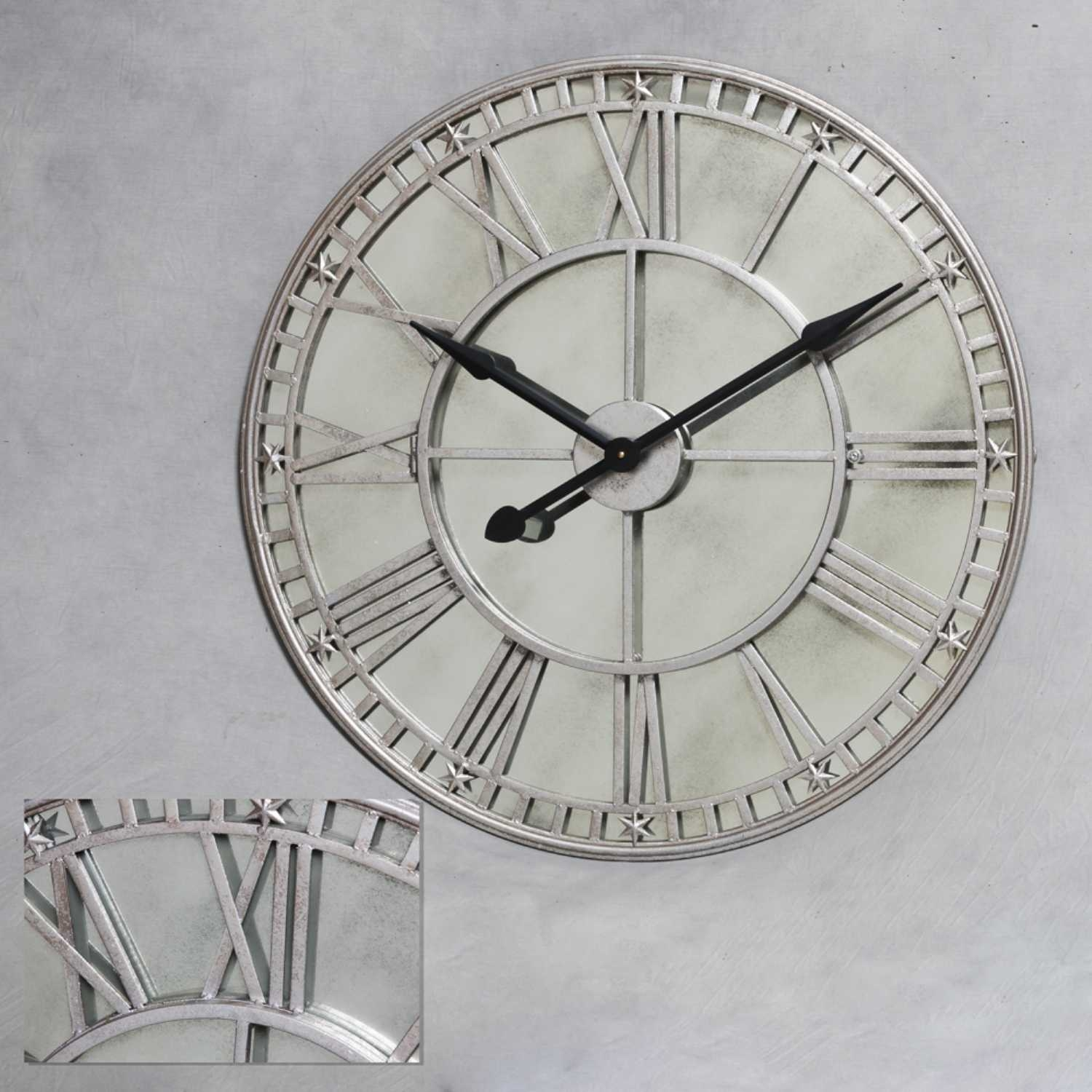 Antique Mirror Wall Clock