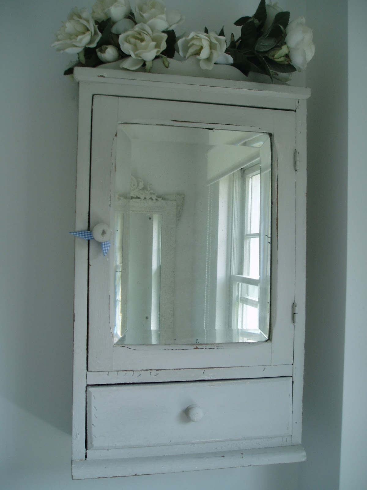 Antique Mirrored Bathroom Wall Cabinet