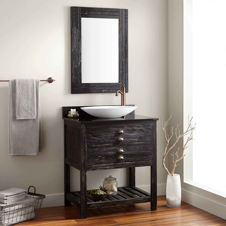 Antique Pine Mirrored Bathroom Cabinet