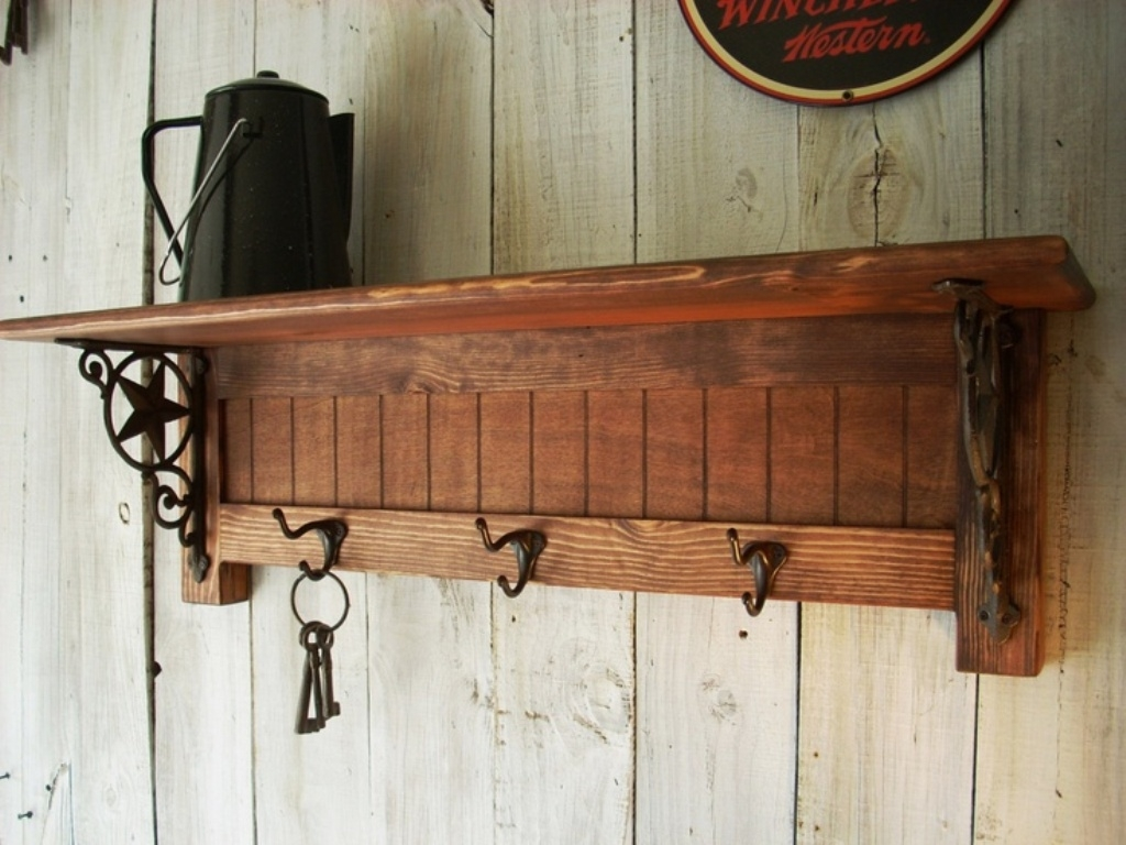 Antique Wall Mount Coat Rack With Mirror