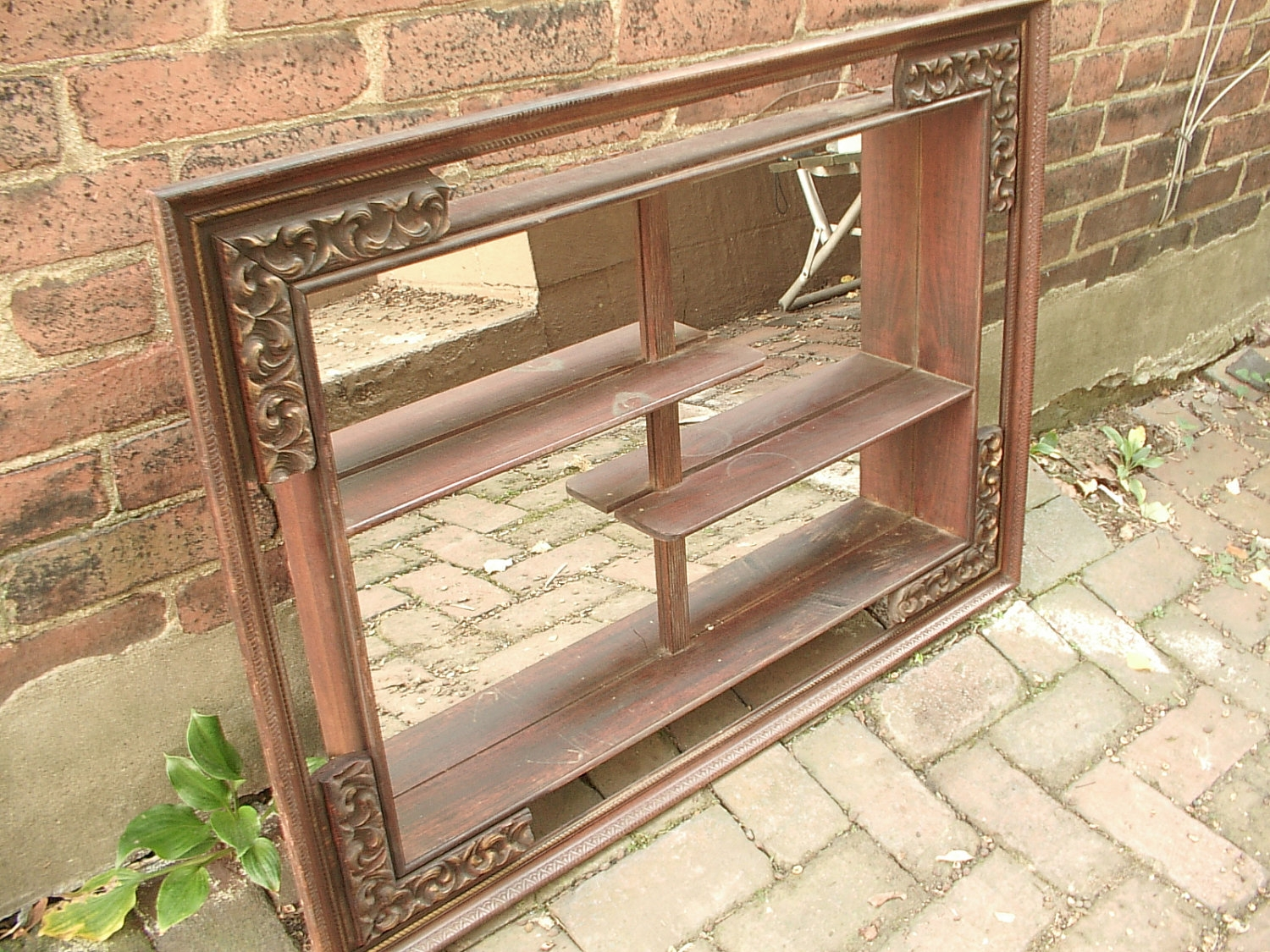 Antique Wall Shelf With Mirror Antique Wall Shelf With Mirror wall shelves design antique wall shelves wooden gallery antique 1500 X 1125