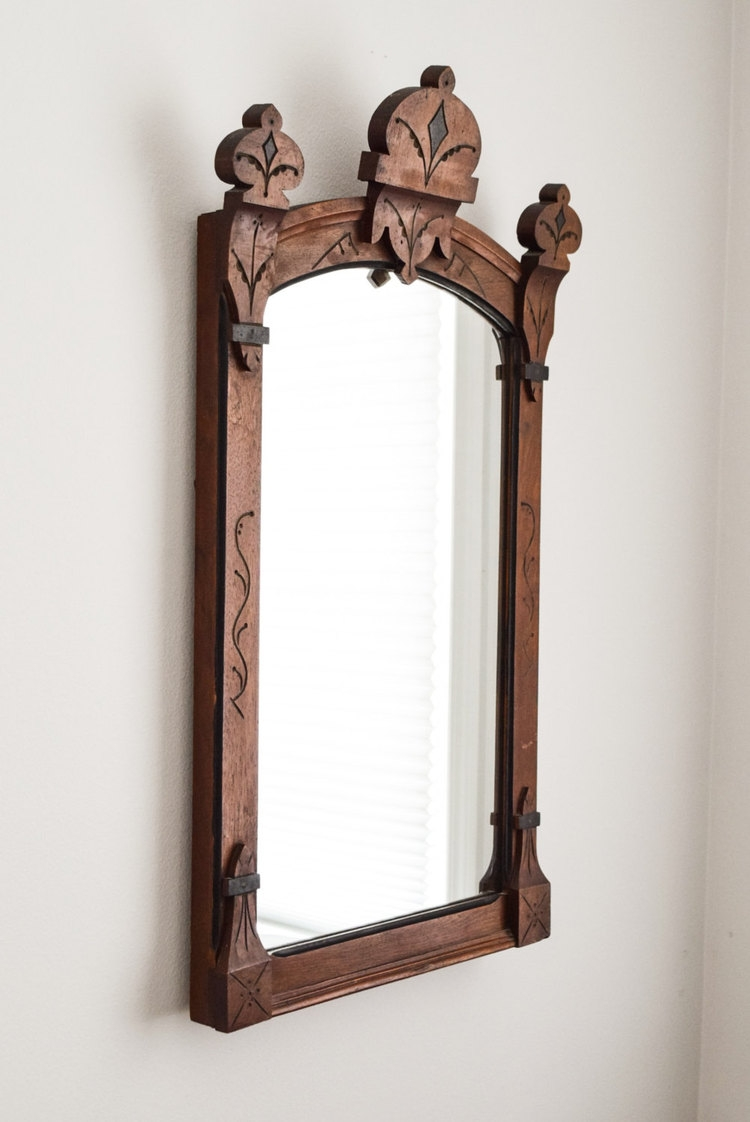 Antique Wood Framed Wall Mirrors